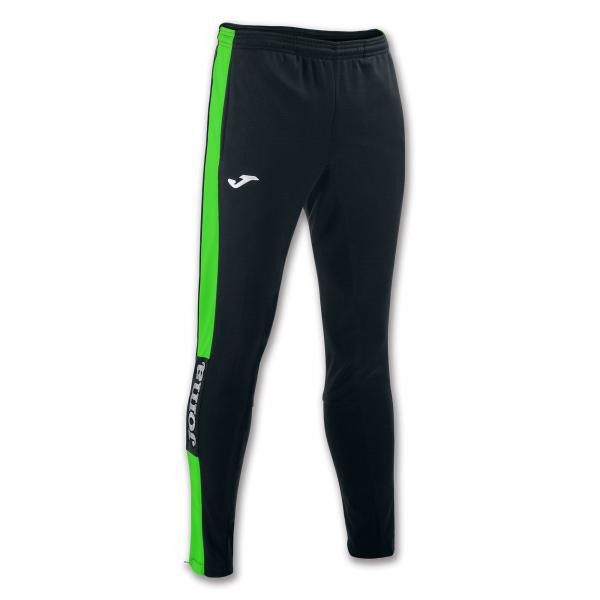 JOMA Pants CHAMPION IV - BLACK/FLUOR GREEN